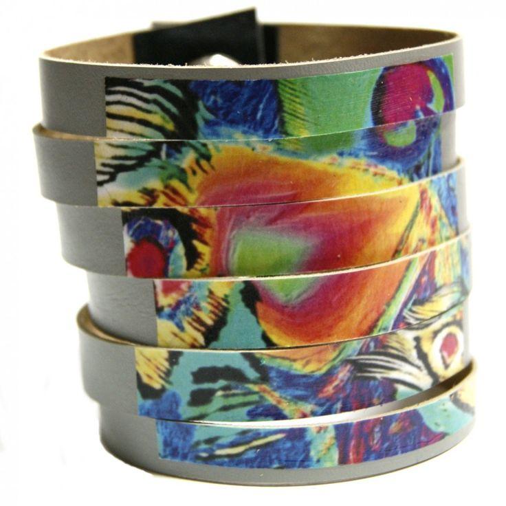 Egzotyczna szara bransoletka z naturalnego zamszu - wysyłka gratis #handmade #bransoletki #bracelet