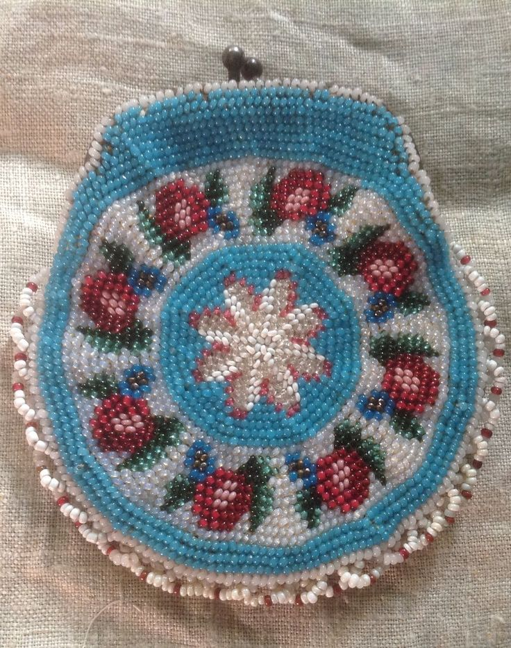 Early 19 th century small beaded purse in perfect condition . English. from luciacollectables on Ruby Lane