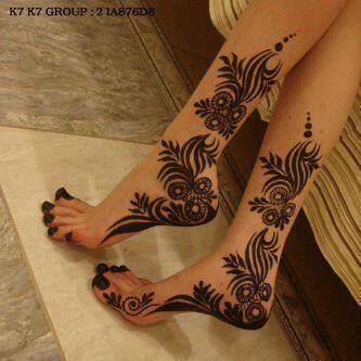 Beautiful Henna Design on feet...  #henna #hennatattoo #mehndi #bridalhenna #shumailas