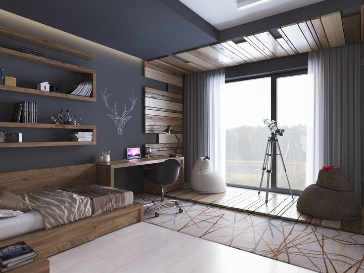 Teenager room in contemporary style on Behance