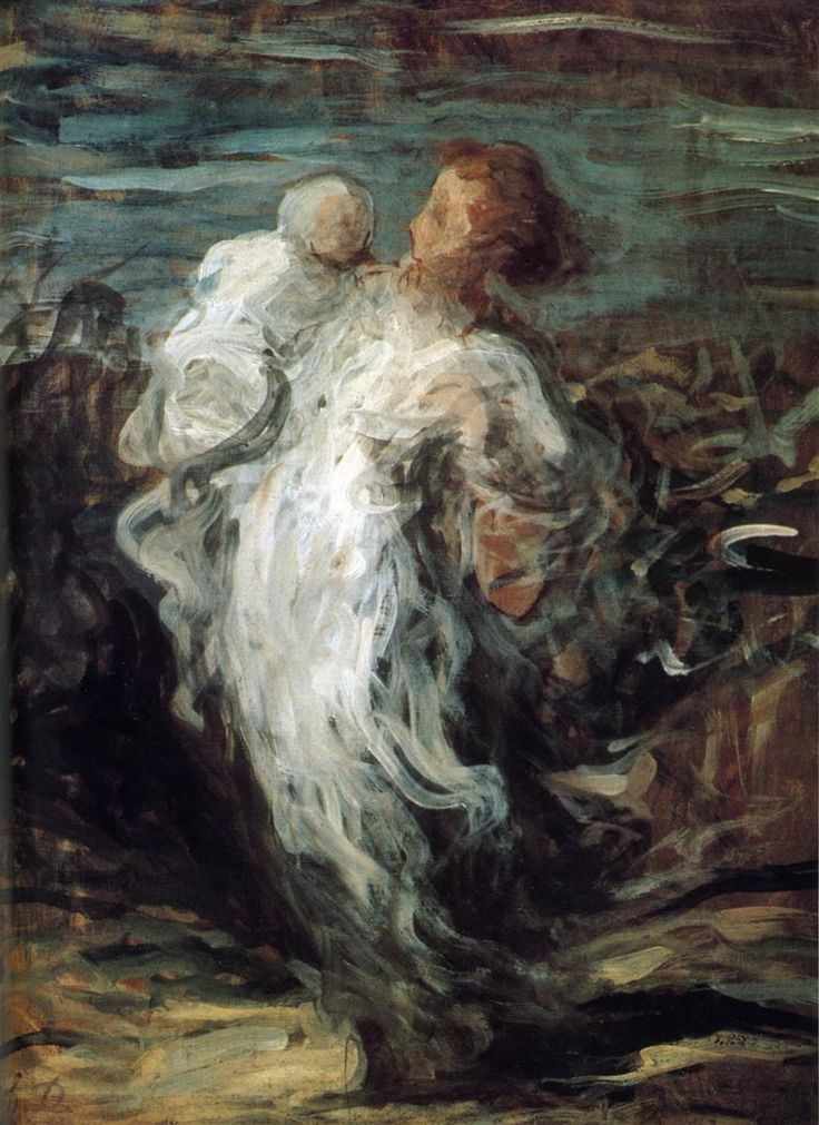 Mother with Child, 1865 Honore Daumier
