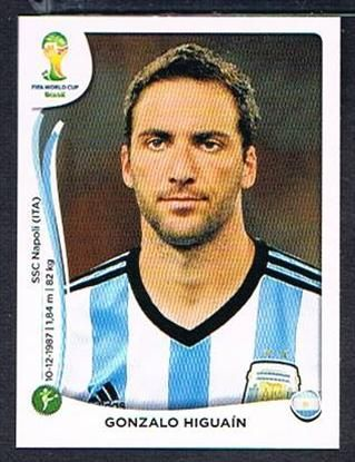 #429 Gonzalo Higuain Panini Brazil 2014 World Cup sticker