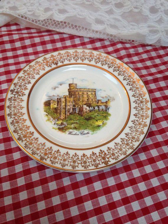 Vintage Souvenir Bone China Plate Windsor Castle England on Etsy, £6.99 English gift