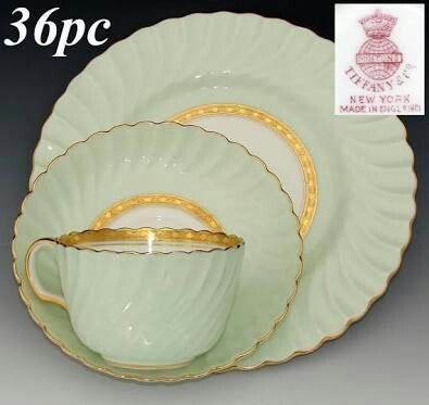 Minton for Tiffany. Somerset green.    Ruby lane.