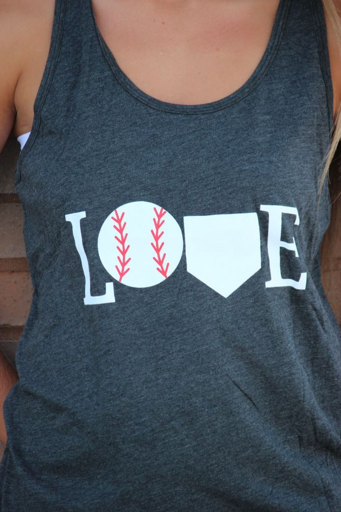 LOVE Baseball Tank Top
