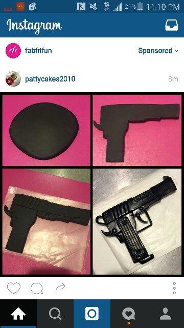 Gun art fondant