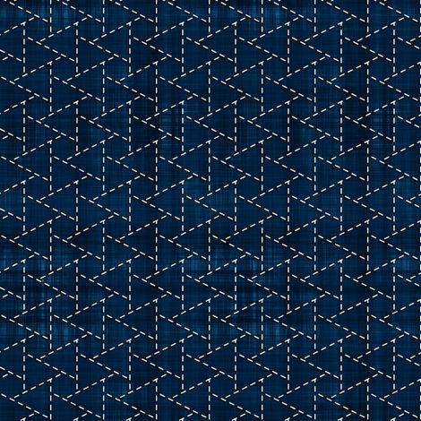 Sashiko: Musubi-Kikko - Linked tortoise shell fabric by bonnie_phantasm on Spoonflower - custom fabric