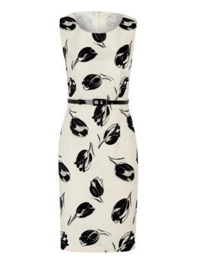 Precis Petite Tulip print cotton sateen dress Multi-Coloured - House of Fraser