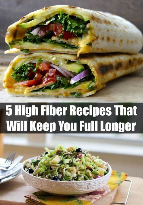 5 High Fiber Recipes That Will Keep You Full Longer - http://www.sofabfood.com/5-high-fiber-recipes-that-will-keep-you-full-longer/ Fill your body up, not out, when you enjoy these 5 High Fiber Recipes that will keep you full longer. When watching your weight, it's imperative to get fiber from whole food sources like fruits, vegetables, and legumes. Break the myth that healthy foods can't be fulfilling and sa...