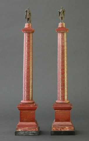 A Pair of Grand Tour Models of Columns - Charles & Rebekah Clark Antiques