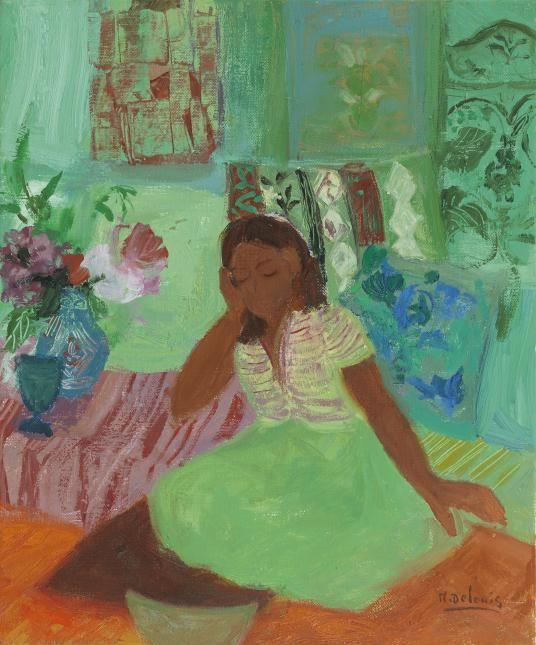 Nancy Delouis La Jupe Verte - Messum's | Fine Art Est.1963.