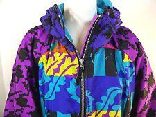 #OBERMEYER 80s 90s Neon #Ski Jacket #SnowBoard #pullover #vintagefashion
