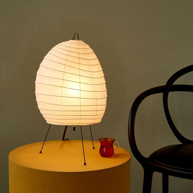 Akari Light Sculpture Model 1n Light Sculpture Lamp Table Lamp