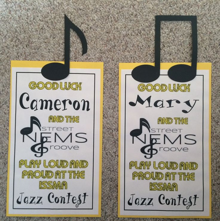 Locker signs for band members