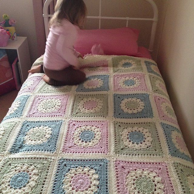Extremely exceptional cover to go on my little girl's bed when she moves out of the bed. Going for 24 squares ( adore that they are enormous squares)… .. 6 down! 7/6/12 ~ chosen to make it so…