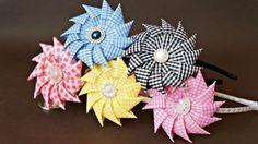 Цветы из лент своими руками /Канзаши/ Ribbon Flower Tutorial / DIY