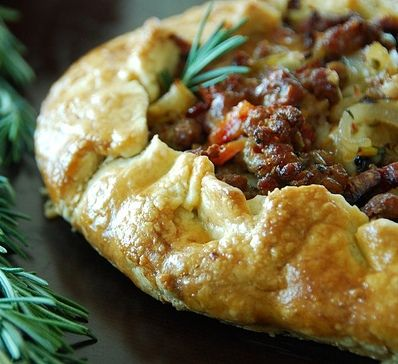 Savory Galettes and other recipes from a restaurant called Hizzoners. It just looks good!
