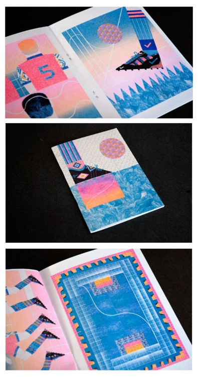 Offside project in riso print format. I'm selling these books at 'Beach'. Check their store http://beachlondon.co.uk/