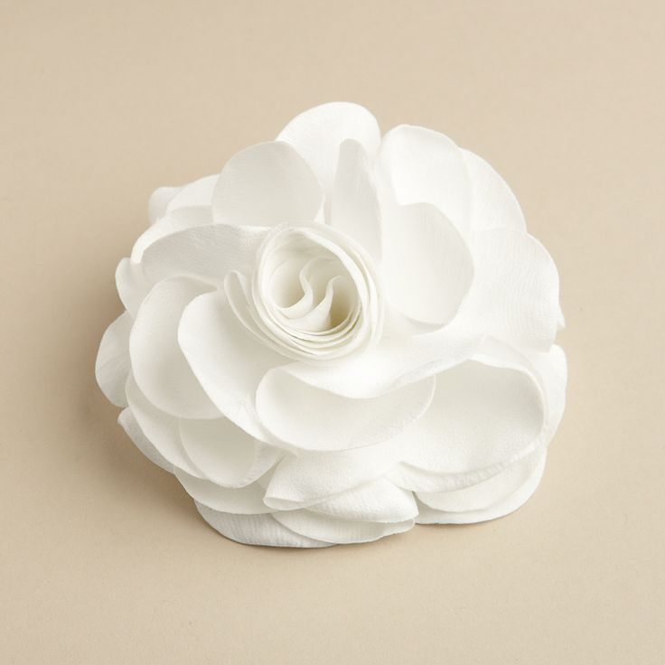 Silk Rose Wedding Hair Clip or Pin - White - The Wedding Faire