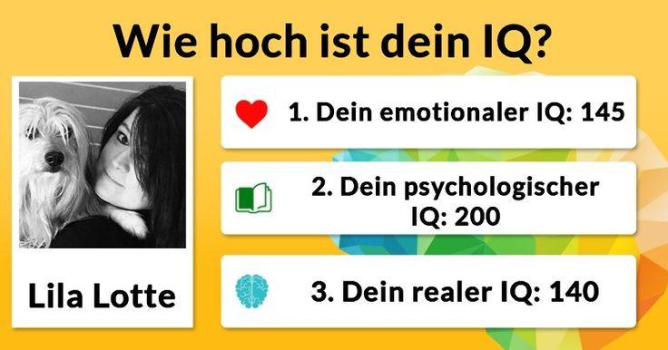 Wie hoch ist dein IQ?