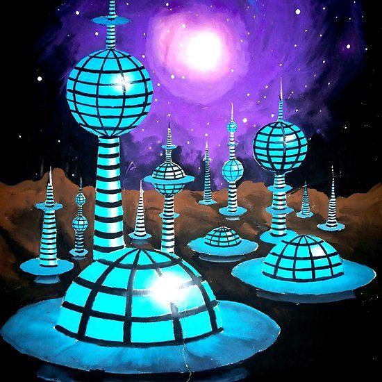 Alien city, painting