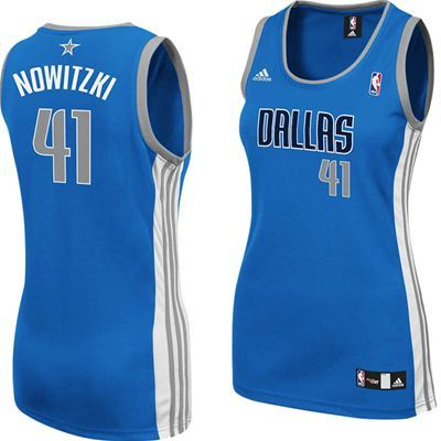 ad95f0cdc62 ... Dallas Mavericks Adidas NBA Dirk Nowitzki 41 Womens Replica Jersey  (Blue) ...