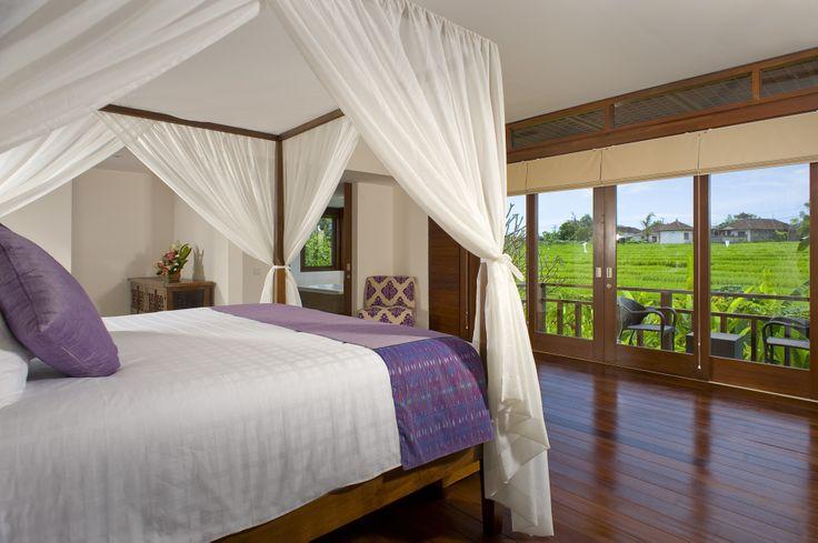 Ricefield view from upstairs bedroom http://prestigebalivillas.com/bali_villas/bendega_nui/23/service_facility/