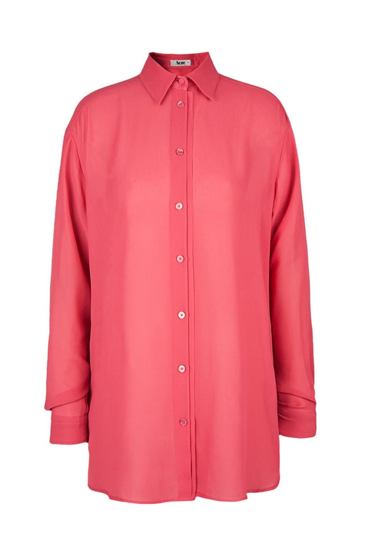 ACNE Shining Bluse Himbeerrot
