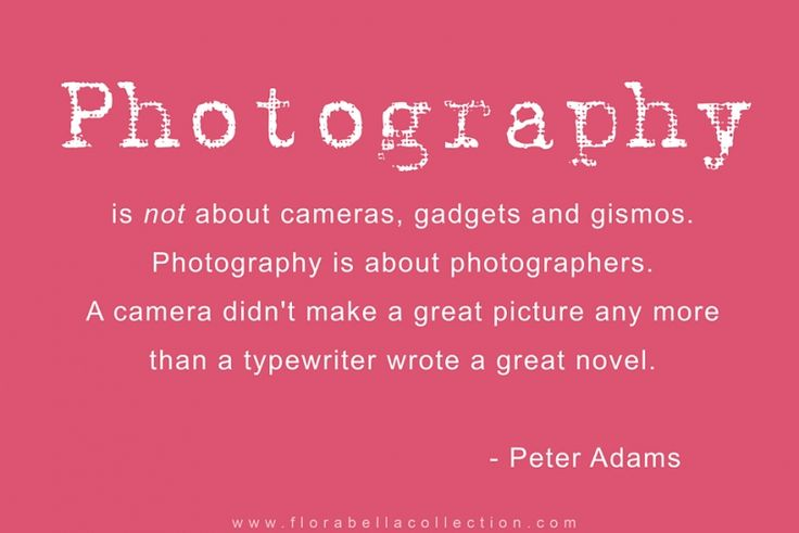 Photography Quote Florabella Collection Peter Adams