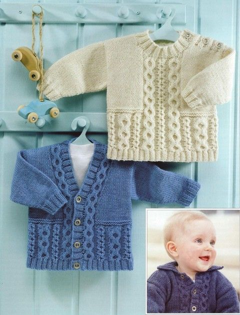 Sirdar - 3083 - Jacket, V-neck Cardigan and Sweater (birth to 6 years). Adorable pattern for sale
