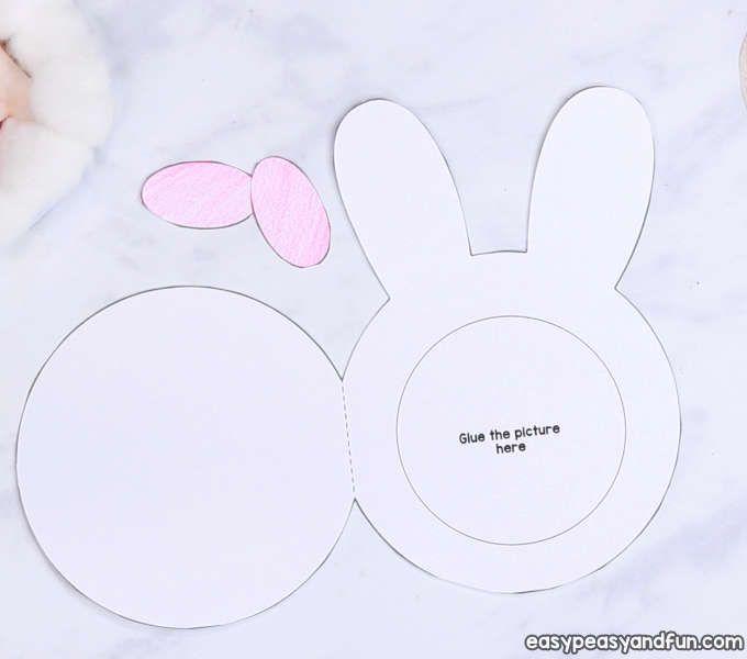 Cotton Ball Bunny Craft Diy Easter Card Bunny Crafts Easy Easter Crafts Easter Diy