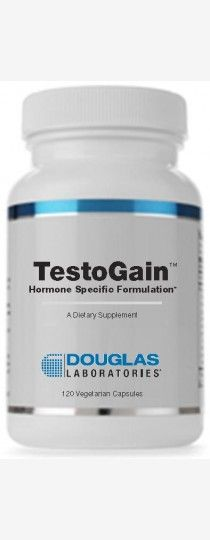 Testo-Gain by Douglas Laboratories -  is a Hormone Specific Formulation of phytoandrogens, androgenogenic adaptogens,androgen agonists and androgen mimetics to help promote optimal testosterone function by maintaining the health of testosterone producing glands and by supporting the healthy functions of testosterone responsive tissues in both men and women.