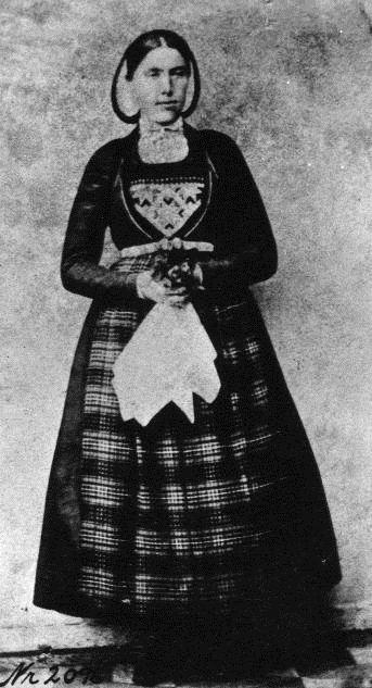 Woman in bunad, Norway