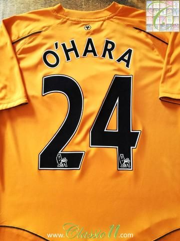 Official Burrda Sport Wolverhampton Wanderers home football shirt from the 2011/2012 season. Complete with O'Hara #24 on the back of the shirt in Premier League lettering.