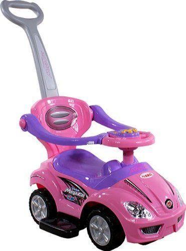 Correpasillos y andados para bebes – Portador con funcion empuja -Tire del juguete – Coche para bebe – Coches para ninos – Baby car ARTI 382 Mega Car Deluxe Pink Ride-On