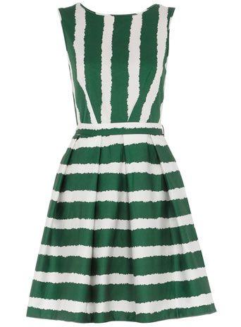Green Striped Dress via Dorothy Perkins.