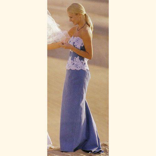 Denim elegance denim and diamond themed party for Western denim wedding dresses