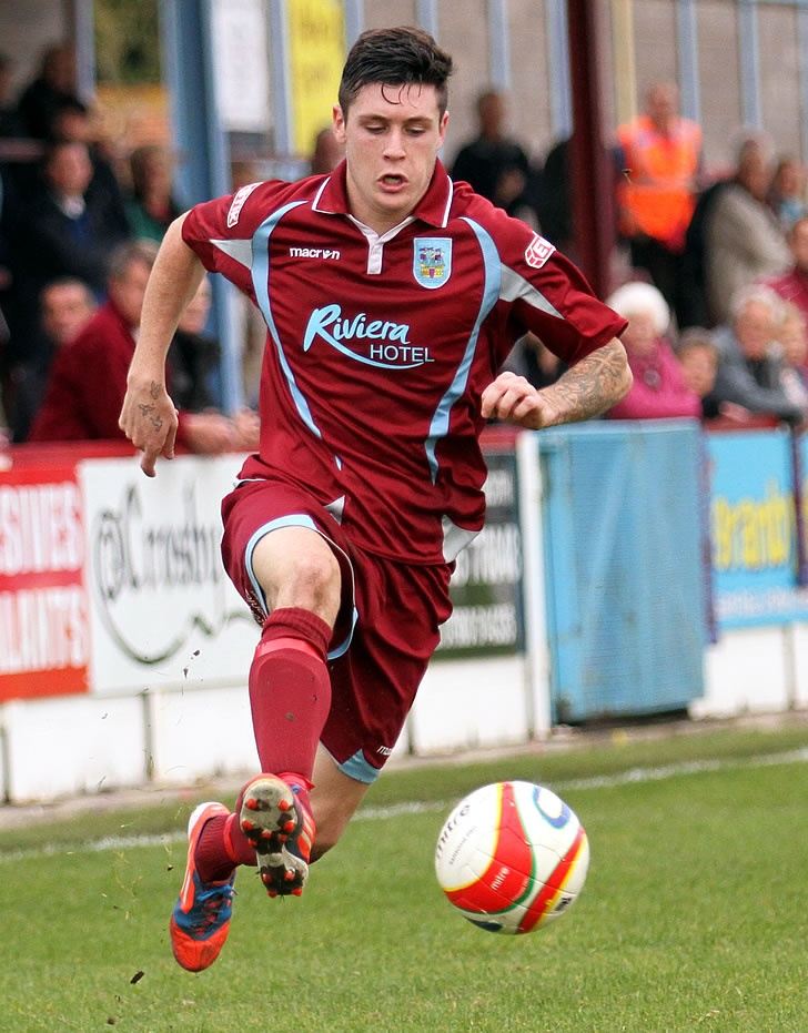 Dan Smith in action for Weymouth FC