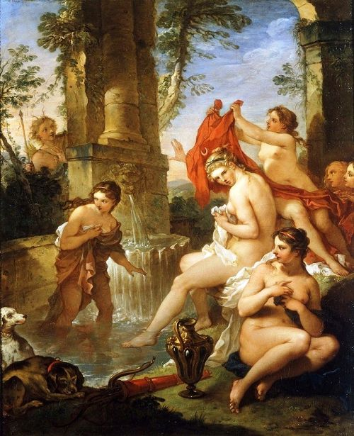 Charles Joseph Natoire (1700 – 1777, French)Diana And Actaeon