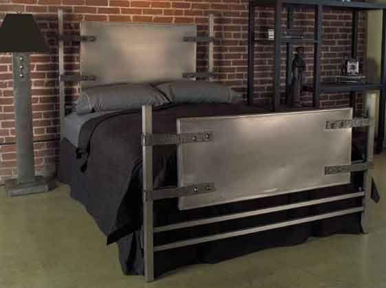 25 best ideas about metal bed frames on pinterest metal - Industrial style bedroom furniture ...