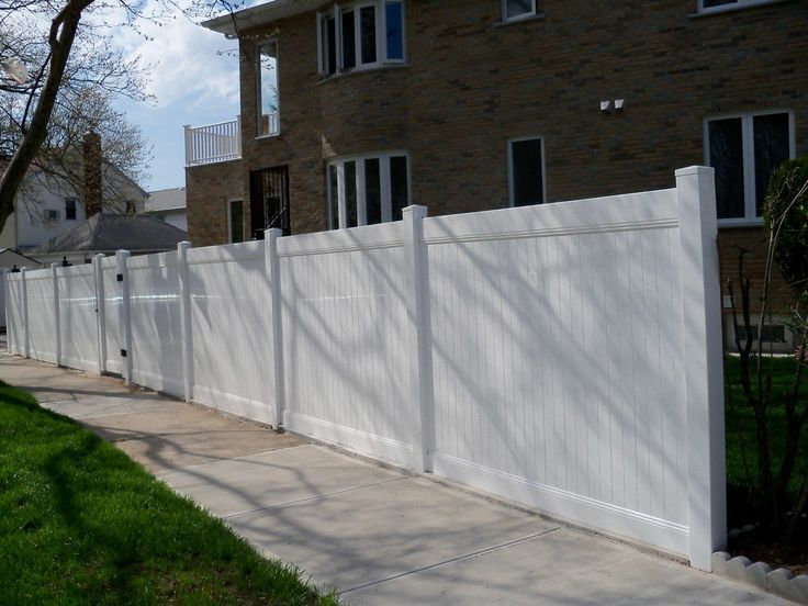 104 Ft Pvc Vinyl Solid Privacy Fence White 6 X 8 Posts