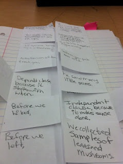 Dependent/Independent clause foldable