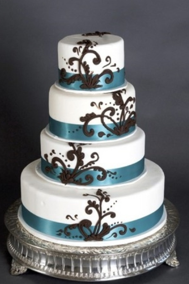 Turquoise Wedding Cake Not My Colors But Like It All The Same