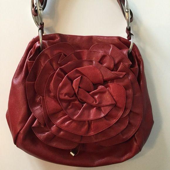 ysl clutch outlet - Yes Saint Laurent Red Leather Flower Bag NWOT YSL shoulder bag ...