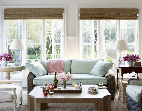 colors. light blue, light pink with magenta and neutrals