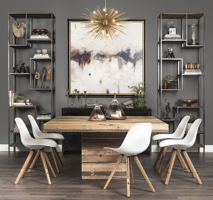 Best 25 Contemporary dining table ideas on Pinterest : da871317347cf1d855081bab05dd12dc modern industrial dining room modern dining table from www.pinterest.com size 736 x 690 jpeg 81kB