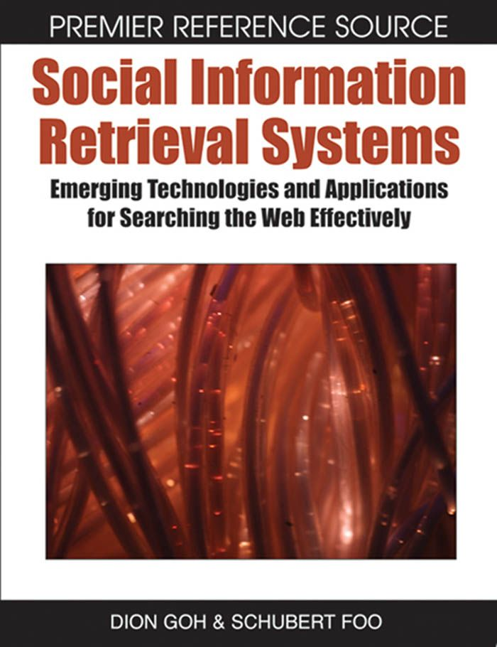 I'm selling Social Information Retrieval Systems by Dion Goh and Schubert Foo - $50.00 #onselz