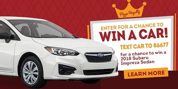 Win A Car Sweepstakes >> Enter Into The Round Table Pizza Car Sweepstakes To Win A