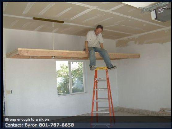 Best 25 overhead storage ideas on pinterest diy garage for Diy garage storage loft