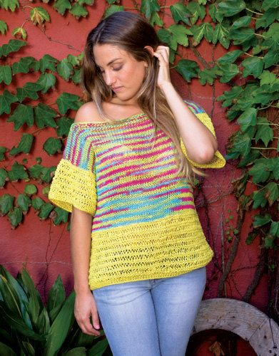 Knit Blouse Multi Colored by miCalorKnits on Etsy